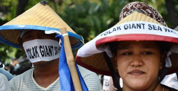 Mega Proyek Giant Sea Wall Diprotes Nelayan