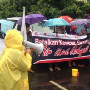 Tolak Swastanisasi Air Jakarta